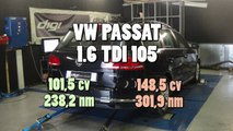 * Reprogrammation Moteur * VW  Passat 1.6 tdi 105cv @ 148cv Dyno Digiservices Paris