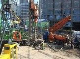 Bouwplaats Rotterdam CS superkraan voor stationshal 2011 Rotterdam maandag 21-03-11 deel 08-12.divx