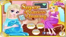 Princess Elsa and Rapunzel Super Mommy - Disney Princess Elsa and Rapunzel Mommy to Be Gam