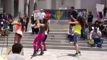 Zumba Dancing for Health:  Limbo with Gisella @ Los Angeles City Hall