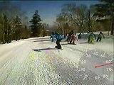2014/04/13 札幌国際スキー場 林間・メルヘン大滑降大会 スノーボード (ゴーグルマウント VGA)