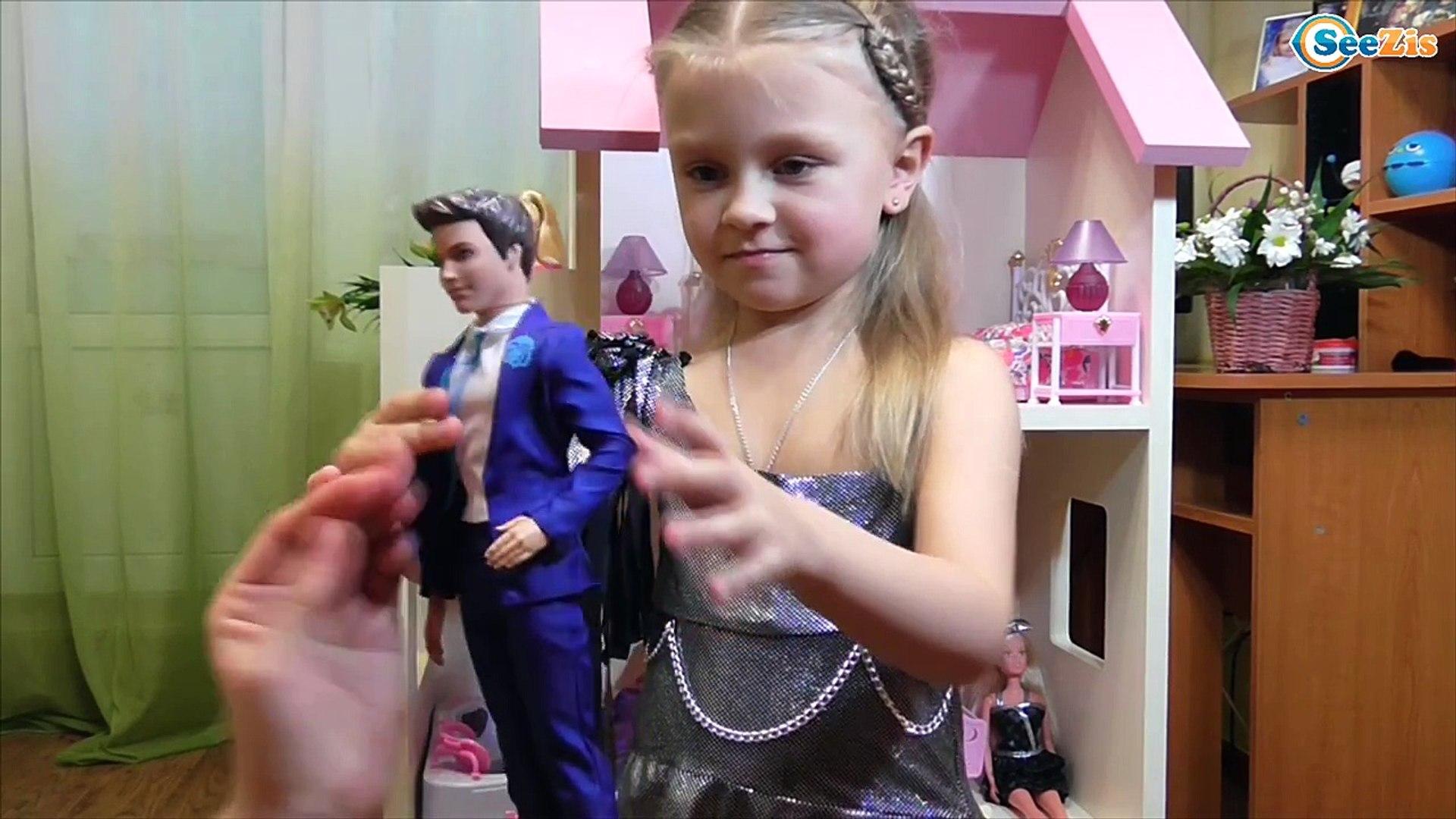 Куклы Барби и Кен. Распаковка и обзор Кена друга Барби от Ярославы. Видео для детей. Tiki Taki Kids