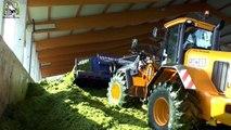 Rogge maaien en hakselen met Claas Jaguar 950, Claas Axion ,Deutz Fahr,Krampe en JCB Trekk