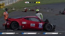 GT TOUR Nogaro 2016 MASSIVE CRASH Bottemanne Ferrari 458