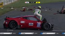 GT Tour Nogaro 2016 MASSIVE Crash Ferrari 458 Italia Bottemanne