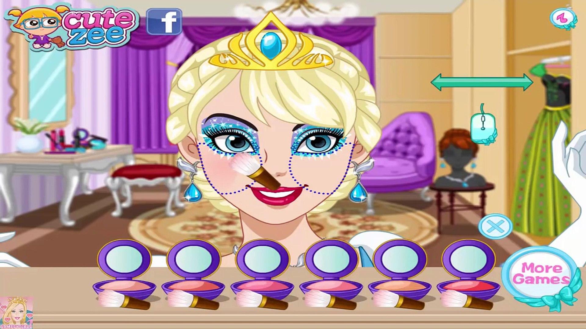 Disney Princess Makeup - Elsa Anna and Rapunzel Makeup Game for Kids