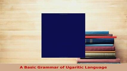 a grammar of the ugaritic language sivan d