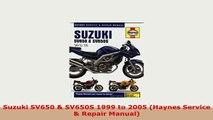 Download  Suzuki SV650  SV650S 1999 to 2005 Haynes Service  Repair Manual PDF Full Ebook