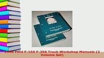 Download  1998 Ford F150 F250 Truck Workshop Manuals 2 Volume Set Download Onlin