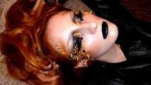 Edgy golden black smokey make-up tutorial inspired by Illamasquas Naked Strangers