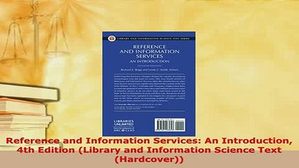 4th Edition An Introduction Reference and Information Services