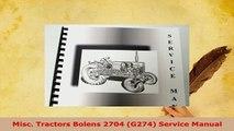 Download  Misc Tractors Bolens 2704 G274 Service Manual Download Online