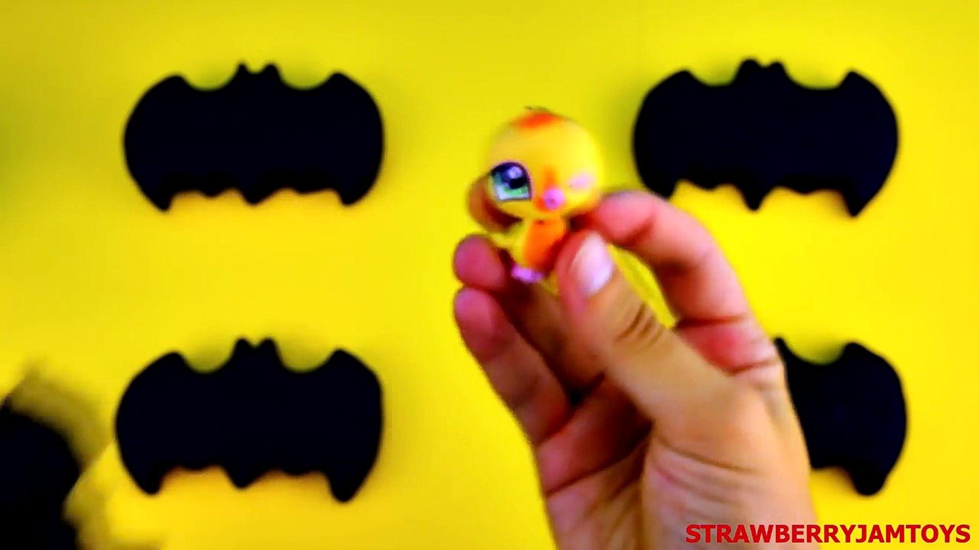 Batman Play Doh Shopkins LPS Toy Story Littlest Pet Shop Toy Story 3 Surprise Eggs StrawberryJamToys