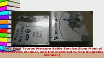 Download  2005 Ford Taurus Mercury Sable Service Shop Manual Set service manual and the electrical Read Full Ebook