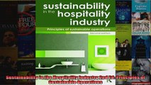 Sustainability in the Hospitality Industry 2nd Ed Principles of Sustainable Operations