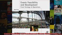 Events Feasibility and Development Events Management