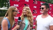SIMON COWELL & PAULINA RUBIO INTERVIEW X FACTOR LOS ANGELES AUDITIONS TALK DEMI LOVATO!