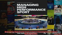 Managing High Performance Sport Foundations of Sport Management