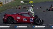 Accident impressionnant pendant le GT Tour 2016 (Nogaro) - Crash de Sacha Bottemanne