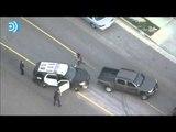 Una espectacular persecución en California impide el robo de un coche policial