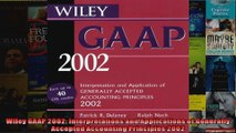Wiley GAAP 2002 Interpretations and Applications of Generally Accepted Accounting