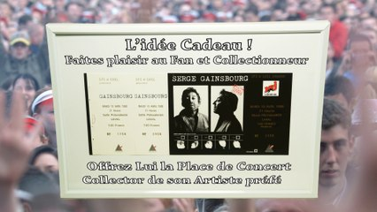 Serge Gainsbourg Pass Concert Collector 1988 Laval Billet Collection Gainsbarre Vente Place Vintage Ticket Idee Cadeau