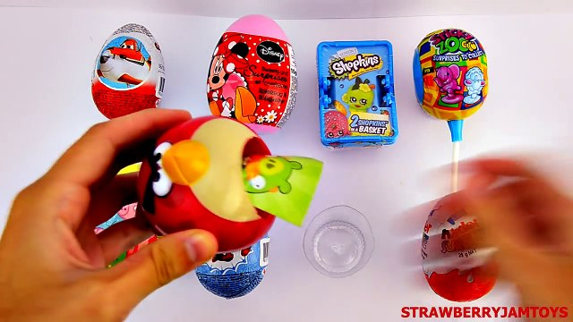 Spider-Man Shopkins Kinder Surprise Chupa Chup Peppa Pig Minnie Mouse Surprise Eggs StrawberryJamToy