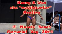 Huang A Wen Bodybuilding Routine in 4K - Memorial Day 2014
