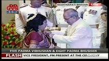 Padma Awards 2016 - President Pranab Mukherjee Presents Padma Awards - Delhi