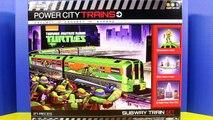 Teenage Mutant Ninja Turtles Power City Train TMNT Black Widow April is abducted By Shredder Krang