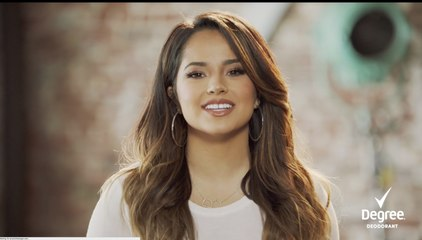 Becky G Off Stage: Measuring Movement with Degree Women Antiperspirant