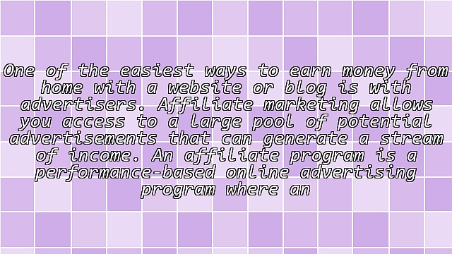 Advertisers and Affiliate Programs