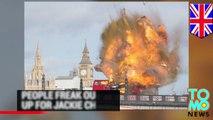 London bus explosion: panic as bus blows up on Lambeth bridge for Jackie Chan movie - TomoNews
