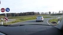 310 km/h  Audi R8  Full Speed  German Autobahn at the Hop. Schnell auf der Autobahn :-)