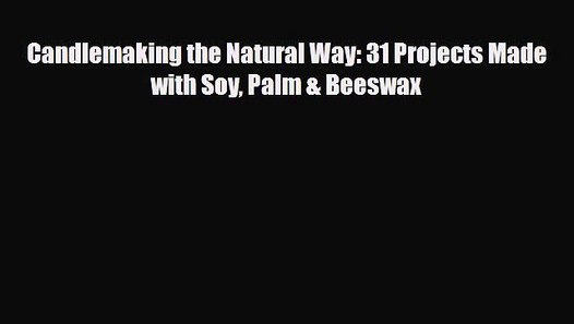 Palm /& Beeswax Book Candle making the Natural Way 31 Projects Made with Soy
