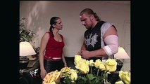 TRISH STRATUS, STEPHANIE MCMAHON AND TRIPLE H BACKSTAGE (2000) - WWE Wrestling - Entertainment Sports Diva Women Women's Wrestling