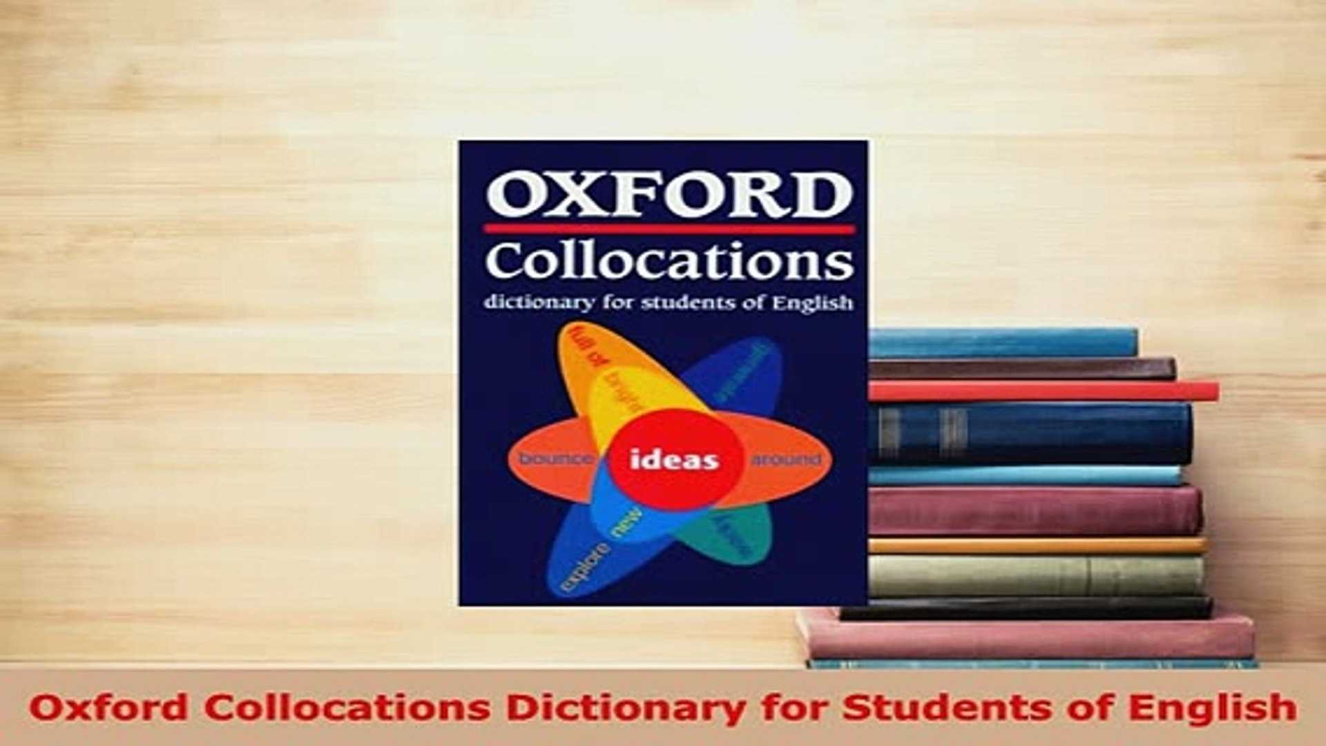 PDF Oxford Collocations Dictionary for Students of English Download Online