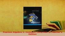 PDF Pearson Algebra 1 Common Core Vol 1 Teachers Edition PDF