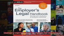Employers Legal Handbook The Manage Your Employees  Workplace Effectively