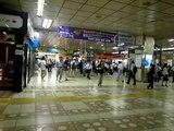 Exiting Shinjuku Station South Exit - (110712-2020)