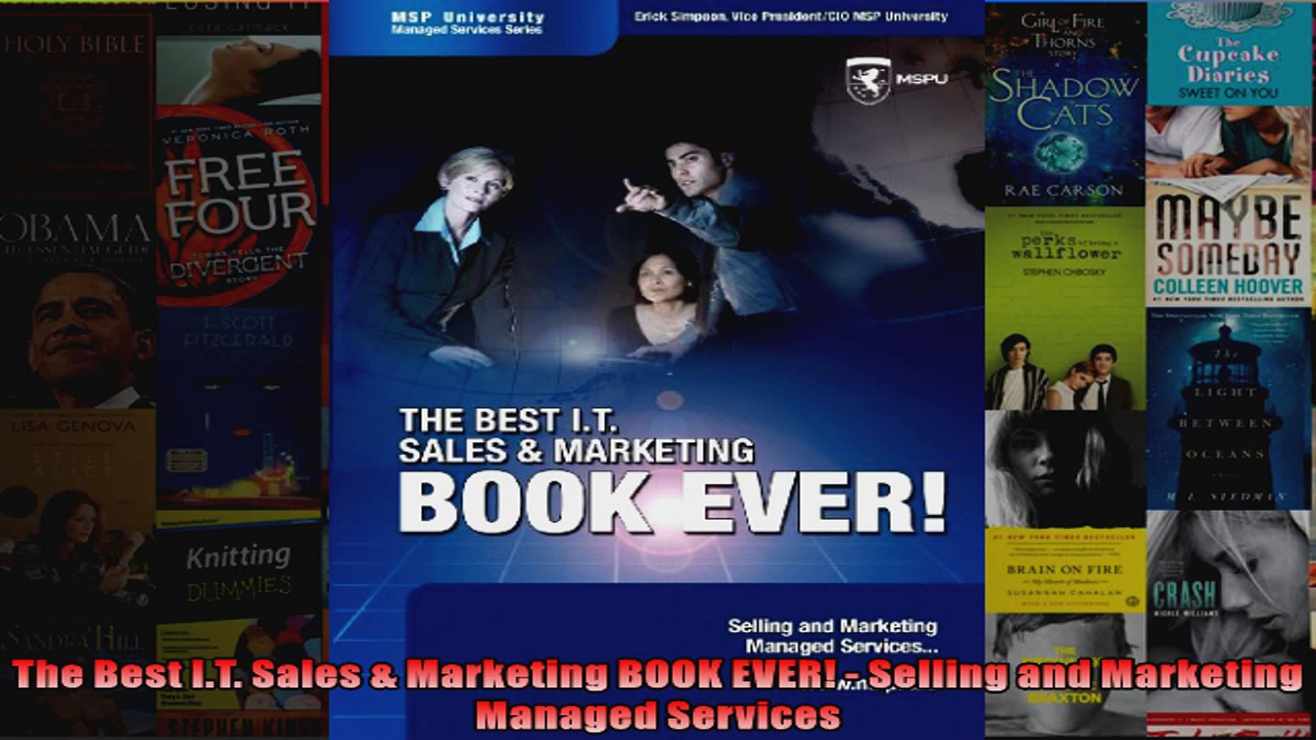 The Best IT Sales  Marketing BOOK EVER  Selling and Marketing Managed Services
