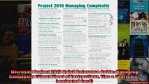Microsoft Project 2010 Quick Reference Guide Managing Complexity Cheat Sheet of