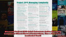 Microsoft Project 2013 Quick Reference Guide Managing Complexity Cheat Sheet of