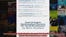 Search Engine Optimization Secrets For Small Businesses A QuickStart Reference Guide