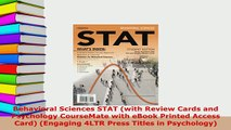 PDF  Behavioral Sciences STAT with Review Cards and Psychology CourseMate with eBook Printed PDF Online