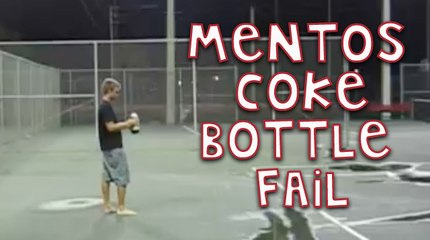 The Best Mentos Coke Bottle Fail Ever!