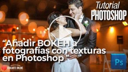 Añadir bokeh en fotos con texturas en Photoshop