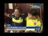 Así festejaron los hinchas colombianos en Quito