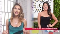 Gina Rodriguez Slams Beauty Standards & Gives Fan Her Globes Dress