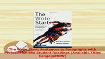 PDF  The Write Start Sentences to Paragraphs with Professional and Student Readings Available Read Online